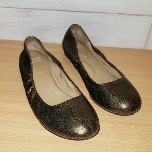 Eileen Fisher Hidden Wedge Metallic Bronze Flat 8